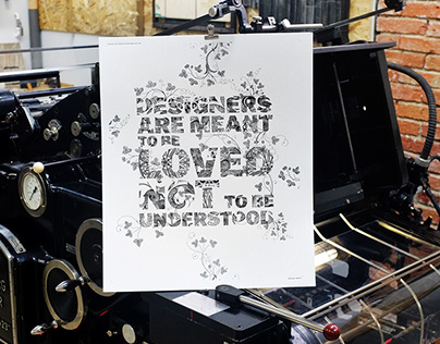 The Design Letterpress Posters
