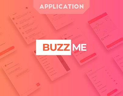 BuzzMe - Mobile app design