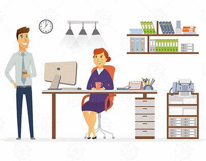 Office Consultation - vector illustration Download