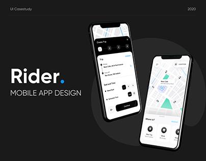 Rider- Mobile App UI Design Casestudy