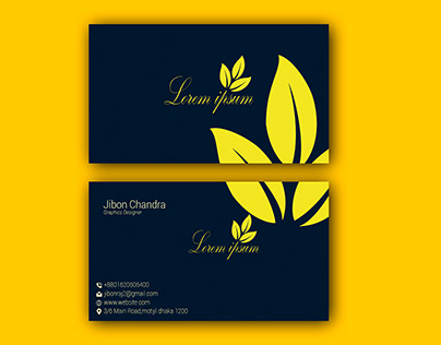 creative outstanding business card design and logo