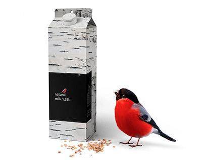 Bird feeder milk packaging