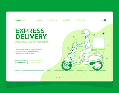 Delivery - Landing Page Designs