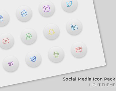 Social Media Icon Pack (Light Theme)