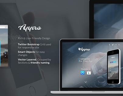 Appro - Free App Website Template in PSD