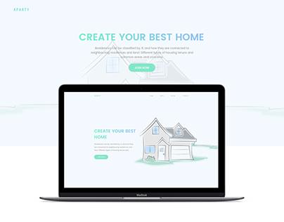 Real Estate apartment website