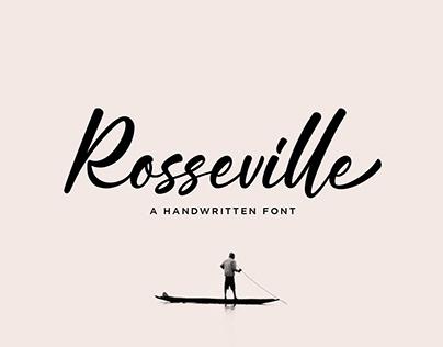 Rosseville - A Handwritten Font