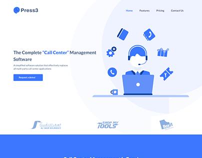 Press3 Landing Page Design