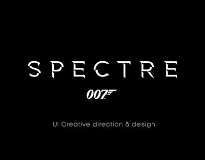 SPECTRE UI Creative direction, design & animation