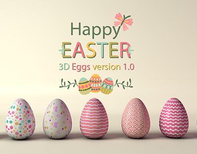 Happy Easter 3D Eggs Version 1.0