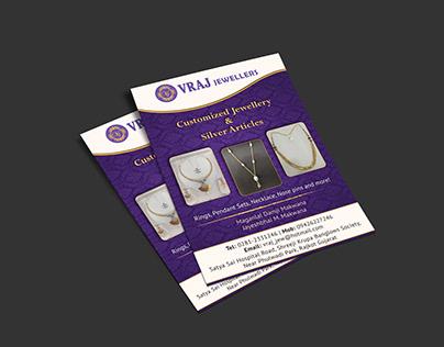 Print Ad Design - VRAJ Jewellers, India