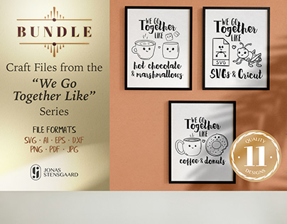 BUNDLE: We Go Together Like - Quotes and Illustrations