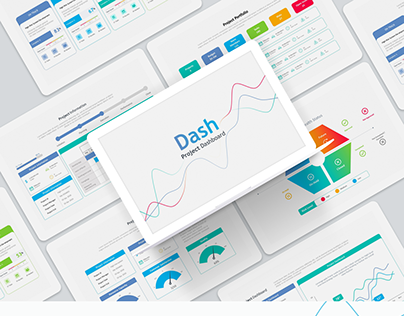 Dash – Project dashboard template for PowerPoint