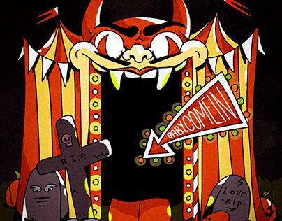 "Funny halloween comic ""LOVE TESTER"""