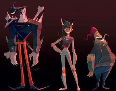 Monster character designs