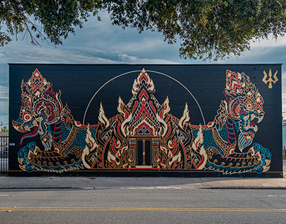Temple of Eternal Bliss: Mural SHINE Festival 2019