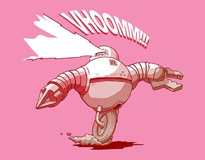Robot Firing Lazers