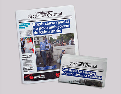 Açoriano Oriental Newspaper Re-Design