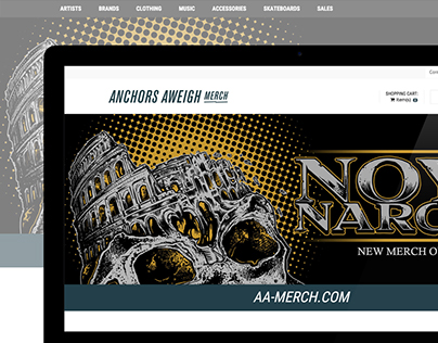 ANCHORS AWEIGH MERCH - E-commerce Website