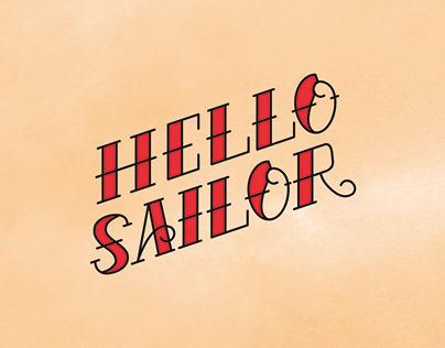 Hello Sailor Label Design