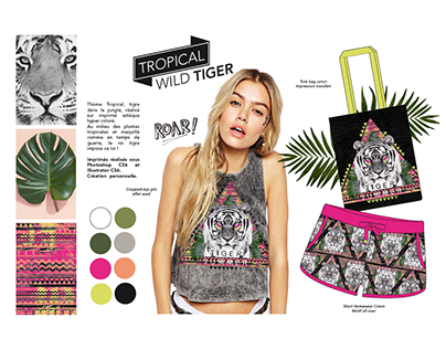 TIGER SUMMER - Design Textile