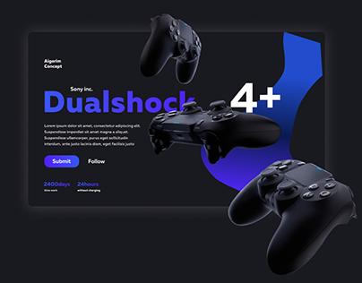 Website Dualshock - Sony Inc.