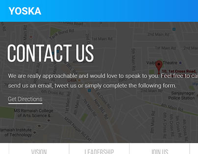About us & Contact pages