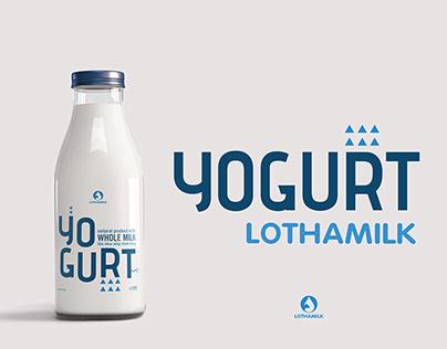 LOTHAMILK YOGURT - Redesign Packaging