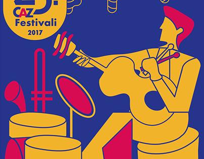 İzmir Caz Festivali Afiş Çalışması