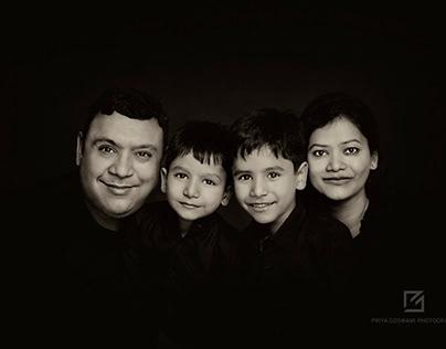 FINE ART FAMILY PORTRAITS - THE GUPTA FAMILY