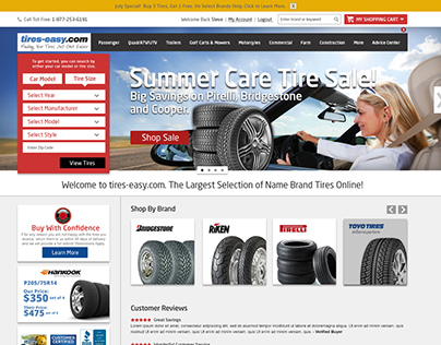 tires-easy.com website design