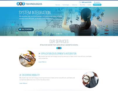 AAJ Technologies - Website Redesign