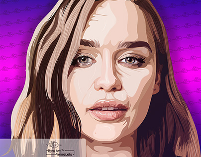 Emilia Clarke illustration