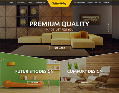 Better living - eshop homepage