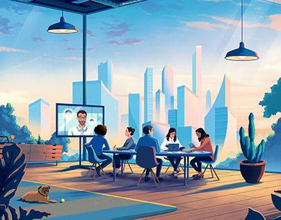 Morgan Stanley Hero Illustrations