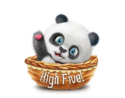 High Five icon set