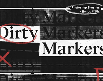 Dirty Markers – Photoshop Brushes By:Bracken