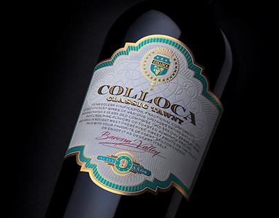 Colloca Classic Tawny Vintage Label Design