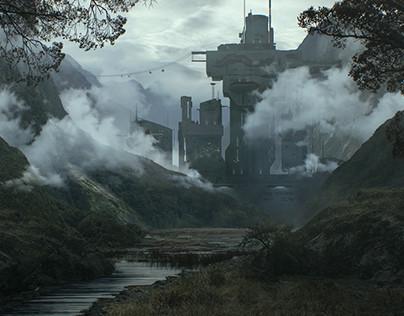 Alien planet base