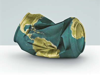 Print Ad - Trash is Recyclable, Our World Isn't