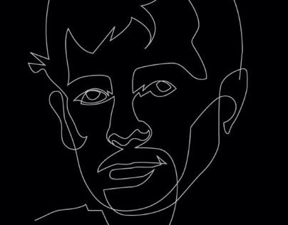 Oneline Kerouac portrait