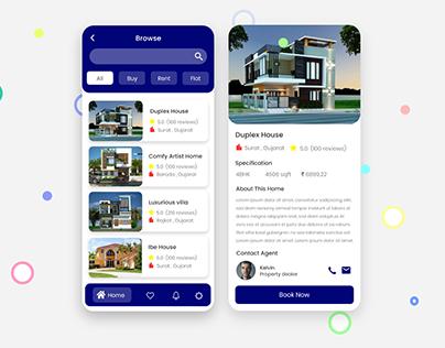 Real Estate App Design