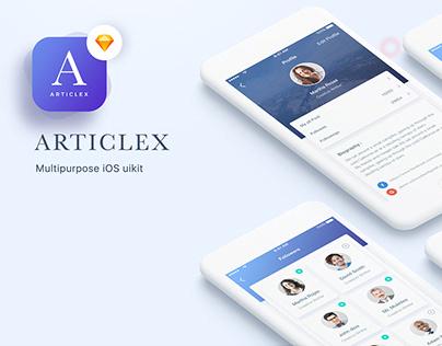 Articlex- Multipurpose iOS application design