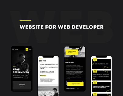 Website for web developer