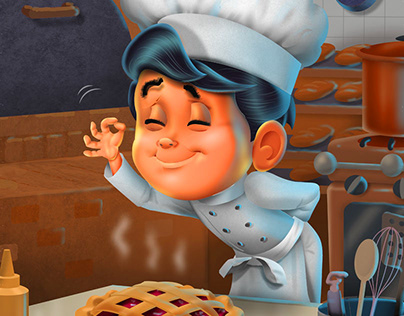 Boy Chef book illustration