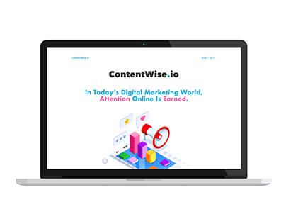 Keynote Presentation Design - ContentWise.io