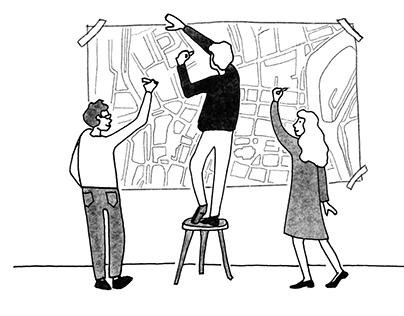 "Illustrations for ""Citizens' Assemblies"" book."