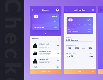 Credit Card Checkout-Mobile App | #dailyui002