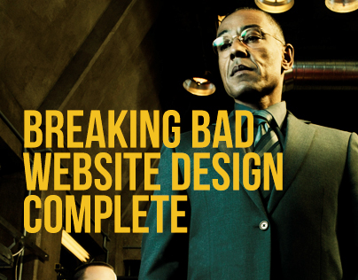 Breaking Bad website Design - Complete Day 30