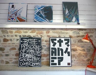 Painting, collages, drawings